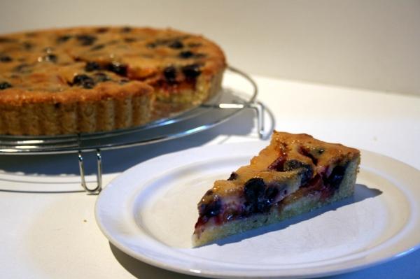 Buttercream Barbie: Blueberry Almond Custard Tart