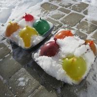 frozen ice water balloons molds recipe